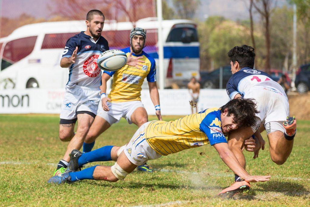 rugbyman sur le terrain de toulouse